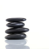 Stack of spa hot stones Stock Image