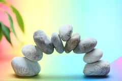 Stack of spa stones Stock Photos