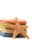 Stack of spa towels Royalty Free Stock Photos