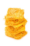 Stack of spaghetti isolated Stock Photos