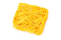 Stack of spaghetti isolated Stock Image
