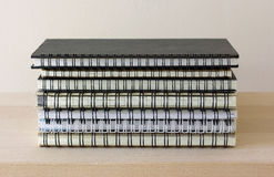 Stack of spiral notebook Royalty Free Stock Photos