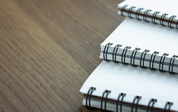 Stack of spiral notebook Stock Images