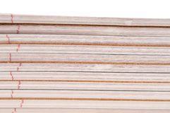 Stack of spiral notebooks Stock Photos