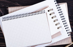 Stack of spiral notebooks Royalty Free Stock Images