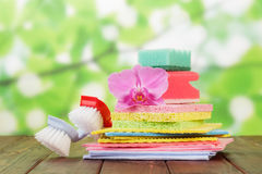Stack of sponges Stock Images