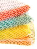 Stack of sponges isolated Stock Photo