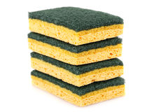 Stack of sponges Stock Photo