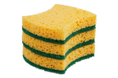 Stack of sponges for washing dishes royalty free stock photo