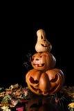 Stack of spooky pumpkin halloween Stock Image