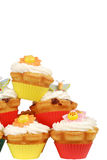 Stack of spring cupcakes Stock Image