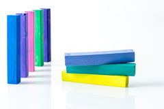 Stack of square colorful pastel chalks Stock Photography