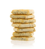 Stack of square crackers isolated Stock Photo
