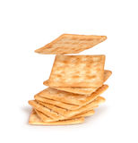 Stack of square crackers Royalty Free Stock Photography