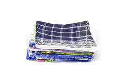 A stack of square handkerchiefs Stock Images