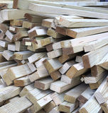 Stack of square wooden Royalty Free Stock Image