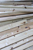 Stack of square wooden Stock Photo