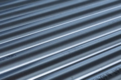Stack of stainless steel pipes Stock Photos