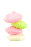 Stack of Steamed rice cake or Fatt Koh isolated Stock Images