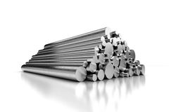 Stack of Steel Pipes. (with clipping path Royalty Free Stock Image