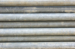 Stack of steel pipes. Stack of grey steel pipes Stock Photos