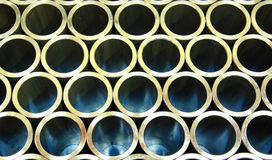Stack of steel pipes Royalty Free Stock Photography