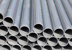 Stack of steel pipes Royalty Free Stock Photo