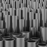 Stack of steel pipes Stock Photo