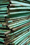 Stack of steel pipes Stock Photos