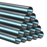 Stack of steel pipes. Stock Photography