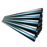 Stack of steel pipes. Stock Image