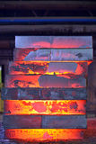 Stack of steel plate Stock Photos