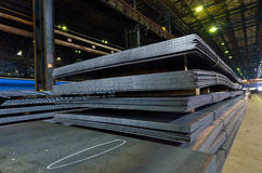 Stack of steel sheet Royalty Free Stock Images