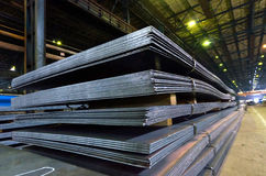 Stack of steel sheet Royalty Free Stock Image