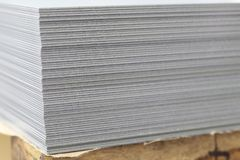 Stack of steel sheets ; ready to use stock images