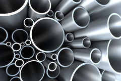 Stack of steel tubing Stock Photography