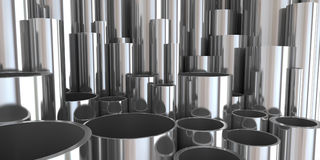 Stack of steel tubing 3d rendering. Good Royalty Free Stock Images