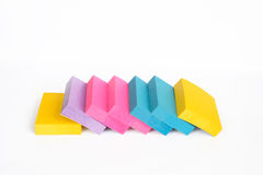 Stack of sticky note Royalty Free Stock Images