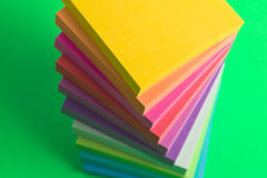 Stack of sticky note paper pads Stock Images