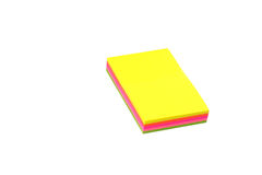 Stack of sticky notes. Royalty Free Stock Photography