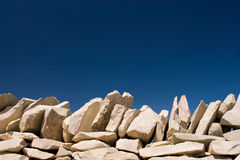 Stack stone on blue sky Stock Images