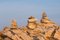 Stack stone with clear blue sky background Royalty Free Stock Photography