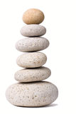 Stack of Stones. A Stack of Stones on a white Background - a nice Zen-like Background Stock Photos