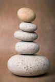 Stack of Stones. A Stack of Stones on a brown Background - a nice Zen-like Background Royalty Free Stock Image