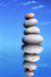 Stack of Stones. A Stack of Stones on a white Background - a nice Zen-like Background Royalty Free Stock Photography