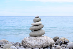 Stack of Stones from Biggest to Smallest Size Stock Image