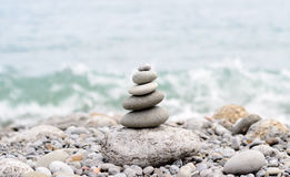 Stack of Stones from Biggest to Smallest Size Royalty Free Stock Photos