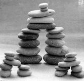 Stack of stones, bond in family relationship Royalty Free Stock Image