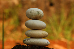 Stack stones brown blur background Stock Photography