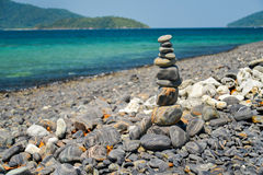Stack of stones on Koh Hin ngam, Lipe island Royalty Free Stock Image